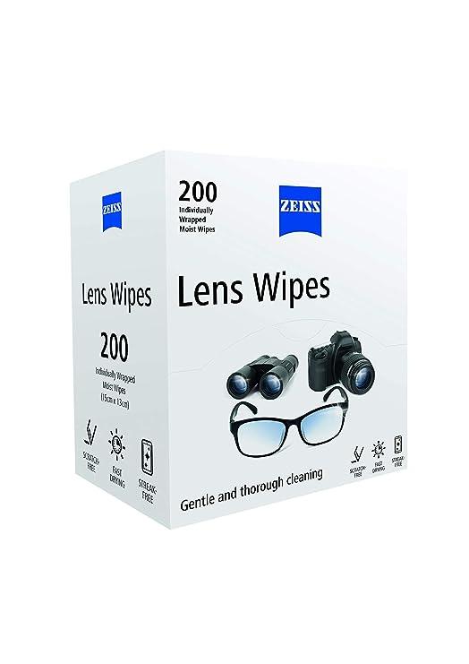 Zeiss - Toallitas para lentes, paquete de 200: Amazon.es: Salud y cuidado personal