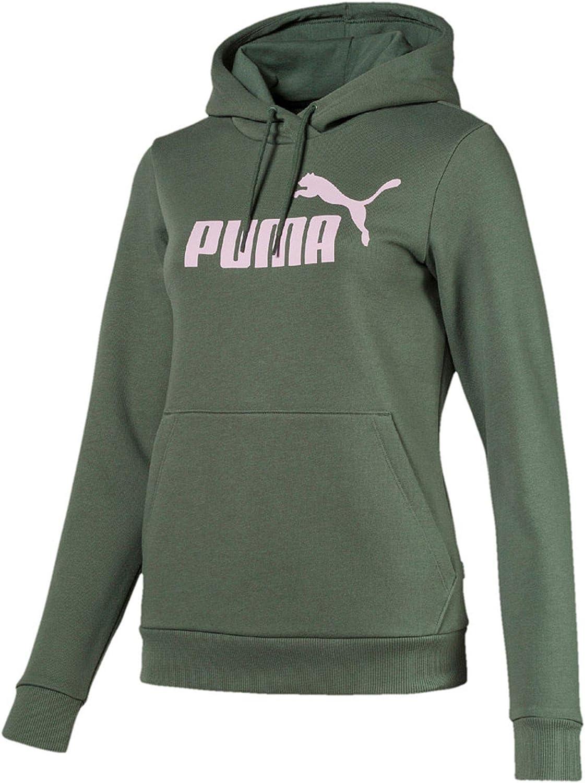 PUMA Damen Elevated Essential Logo Hoodie: : Bekleidung