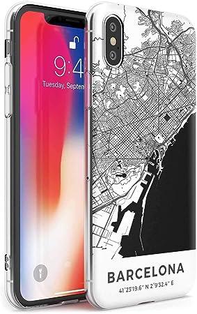 Mapa De Barcelona, España Estuche Delgado para iPhone XR   Claro ...