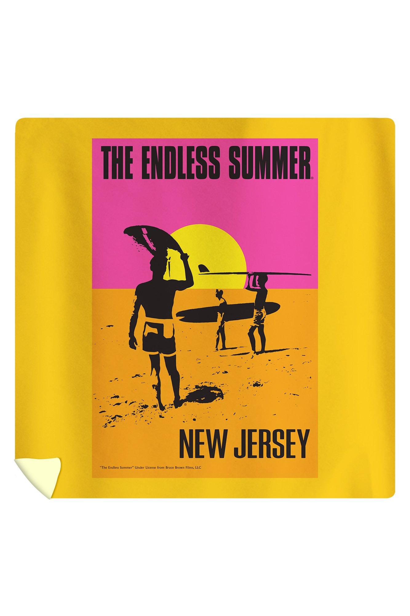 New Jersey - The Endless Summer - Original Movie Poster (88x88 Queen Microfiber Duvet Cover)