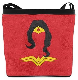 Popular Casual Fabric Shoulder Bag Sling Bag Crossbody Bag Messenger Bags with Wonder Woman Pattern Print
