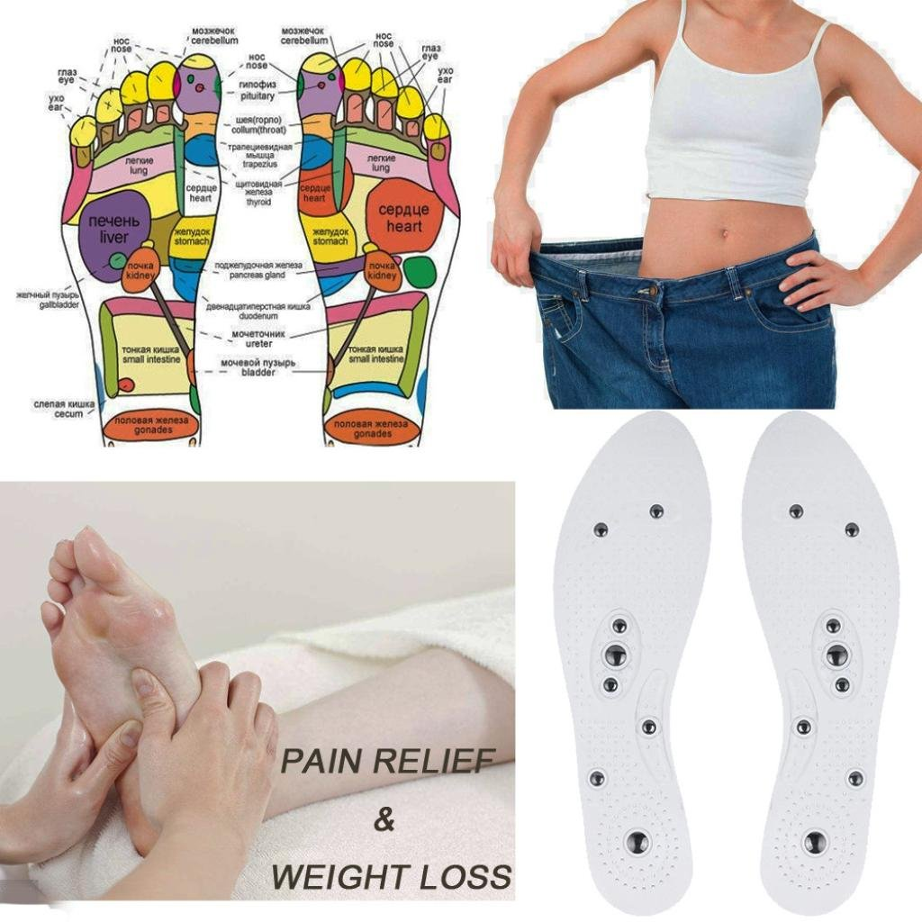 Botrong Magnetic Massage Shoe Insoles Gel Pad Therapy Acupressure Foot Care Cushion