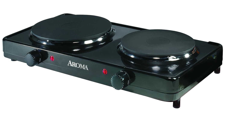Aroma AHP312 Mesa Hornillo eléctrico / - Placa (Mesa, Hornillo eléctrico/Placa eléctrica, esmalte de acero, Negro, Giratorio): Amazon.es: Hogar