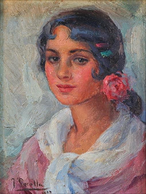 Retrato De Una Mujer By Joaquin Sorolla Digital Print Poster ...