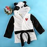 Baby Boys Bathrobe Sleepwear Tracksuit Thicken Cute Cartoon Animal Hooded Robe