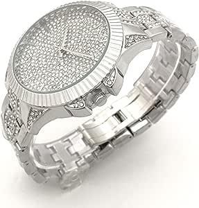 ساعة يد نسائية مرصع بالكريستال ستانلس ستيل من هيمنيز