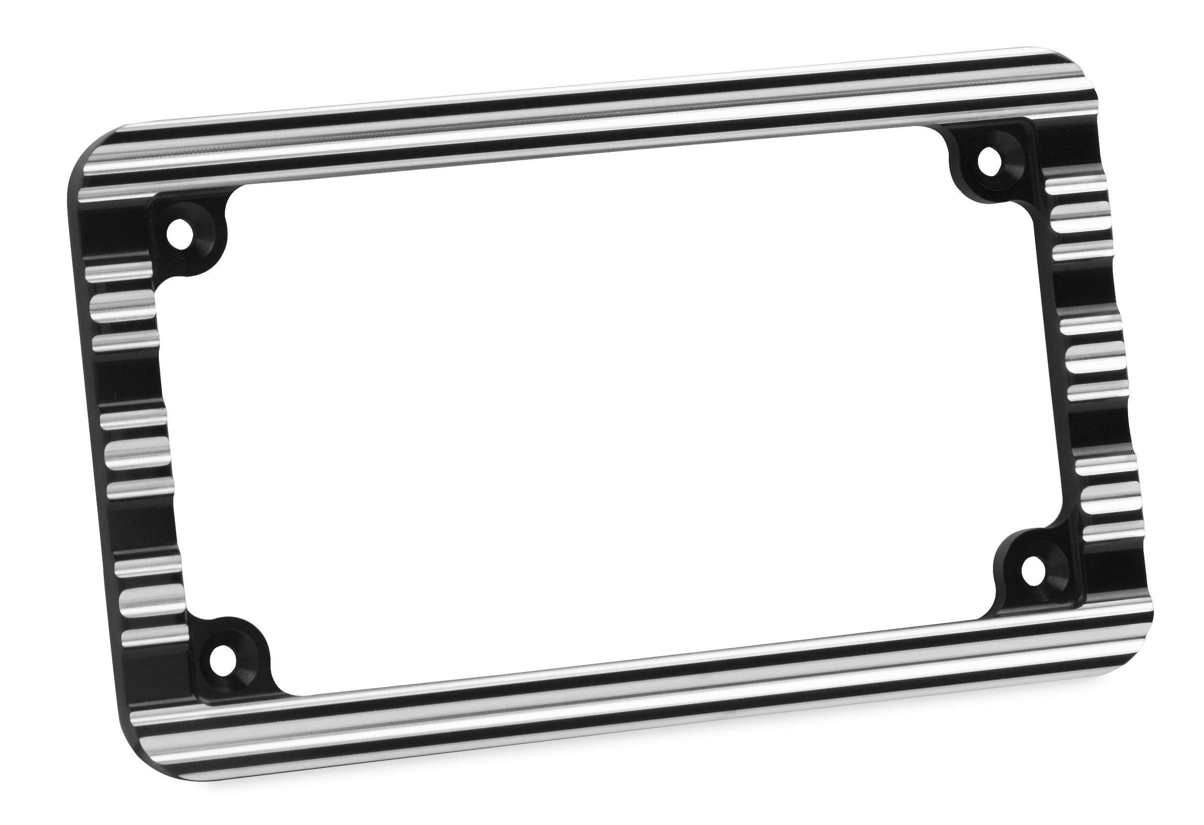Arlen Ness 12-136 10-Gauge License Plate Frame - Black