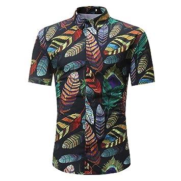 Hombres Camiseta,Sonnena ❤ ❤ ❤ Blusa Estampada Floral de la Moda