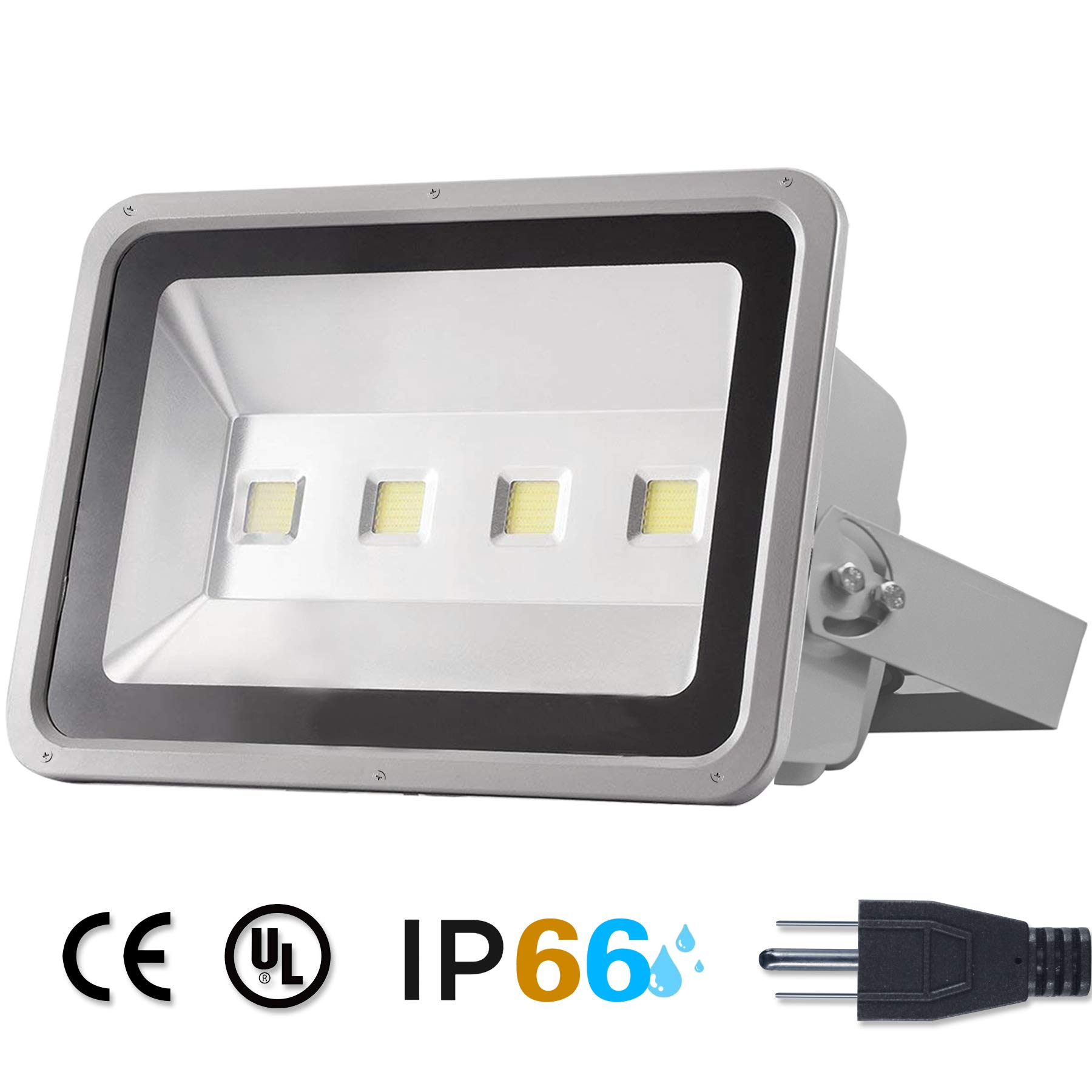 Hikari LED Flood Light 200W Outdoor Waterproof -Super Bright 6000K White floodlight AC85-265V IP66 All-Weather 100% Aluminum Shell 50,000 Hours Life 20,000 lm 2 Years Warranty