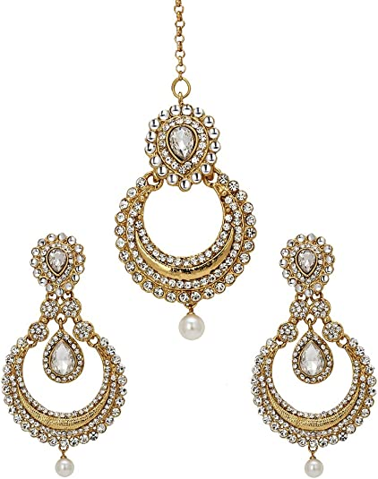 Amazon Com Bindhani Women S Indian Bollywood Style Jewellery Hair