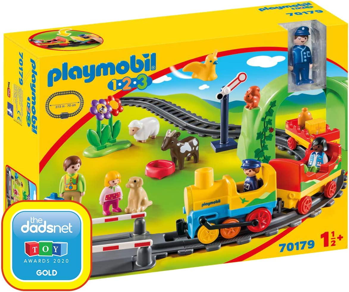 PLAYMOBIL 1.2.3 Mi primer Tren, color carbón (70179) , color/modelo surtido