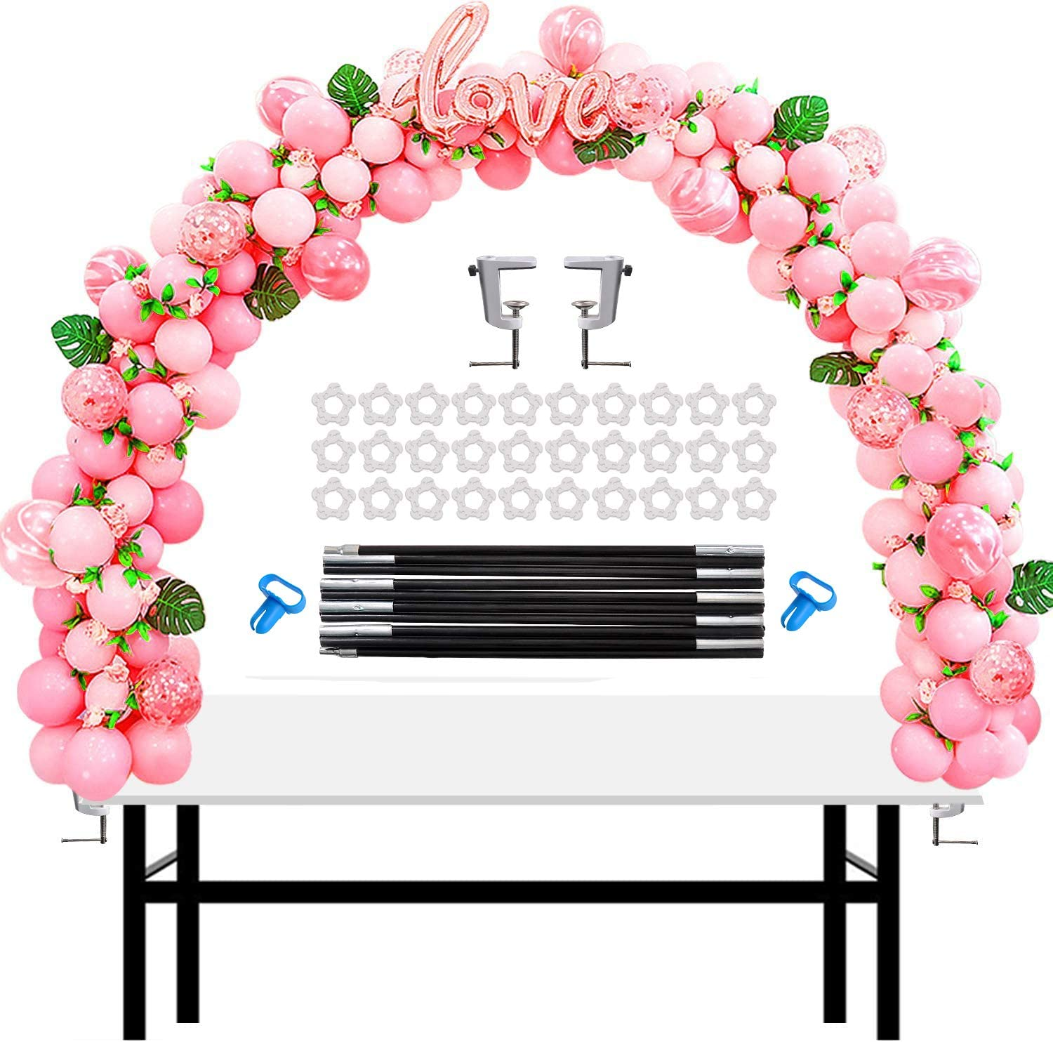 Chamvis Table Balloon Arch Kit Adjustable Balloon Stand for Baby Shower, Birthday, Wedding, Festival, Graduation Christmas Decorations and DIY Event Party Supplies