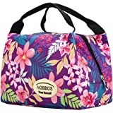 Aosbos Recycled Insulated Lunch Box Tote Cooler Bag (Rich Flowers)