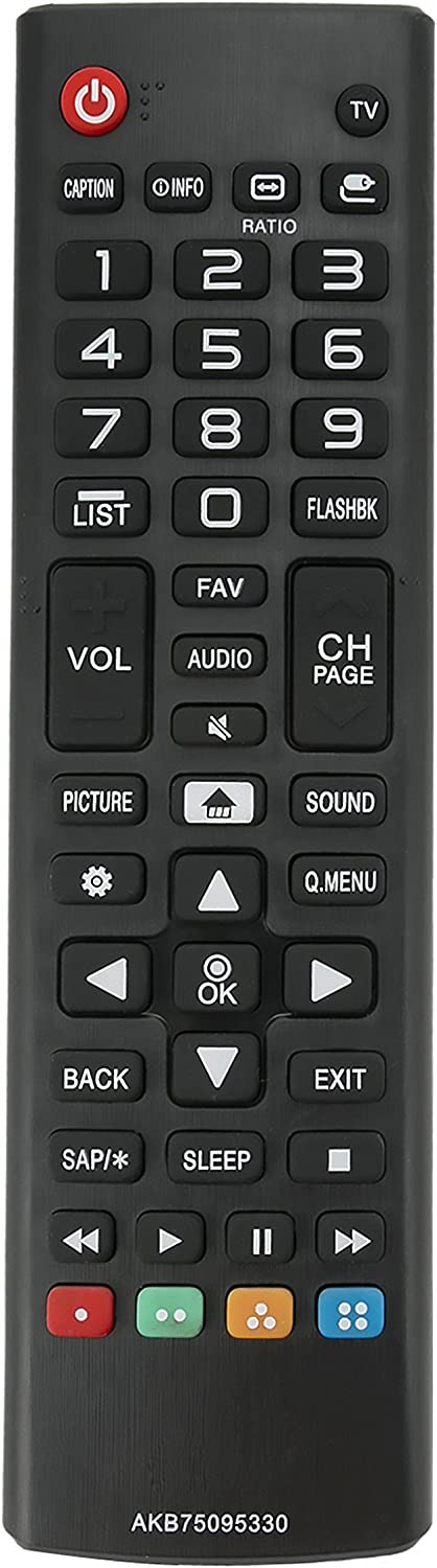 New AKB75095330 Replace Remote Control fit for LG 28MT42DF 28LJ400B 43LJ5000 43LJ500M 32LJ500B 28LJ400B-PU 32LJ500UB 32LJ500-UBLED 28LJ430B 28LJ400B-PU 32LJ500B-UB 43LJ5000-UB 43LJ500M-UB LCD TV VINABTY factory