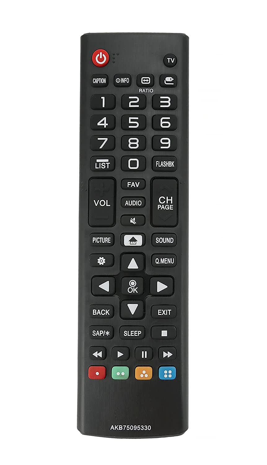 Vinabty New AKB75095330 Replace Remote Control fit for LG 28MT42DF 28LJ400B 43LJ5000 43LJ500M 32LJ500B 28LJ400B-PU 32LJ500UB 32LJ500-UBLED 28LJ430B LCD TV VINABTY factory
