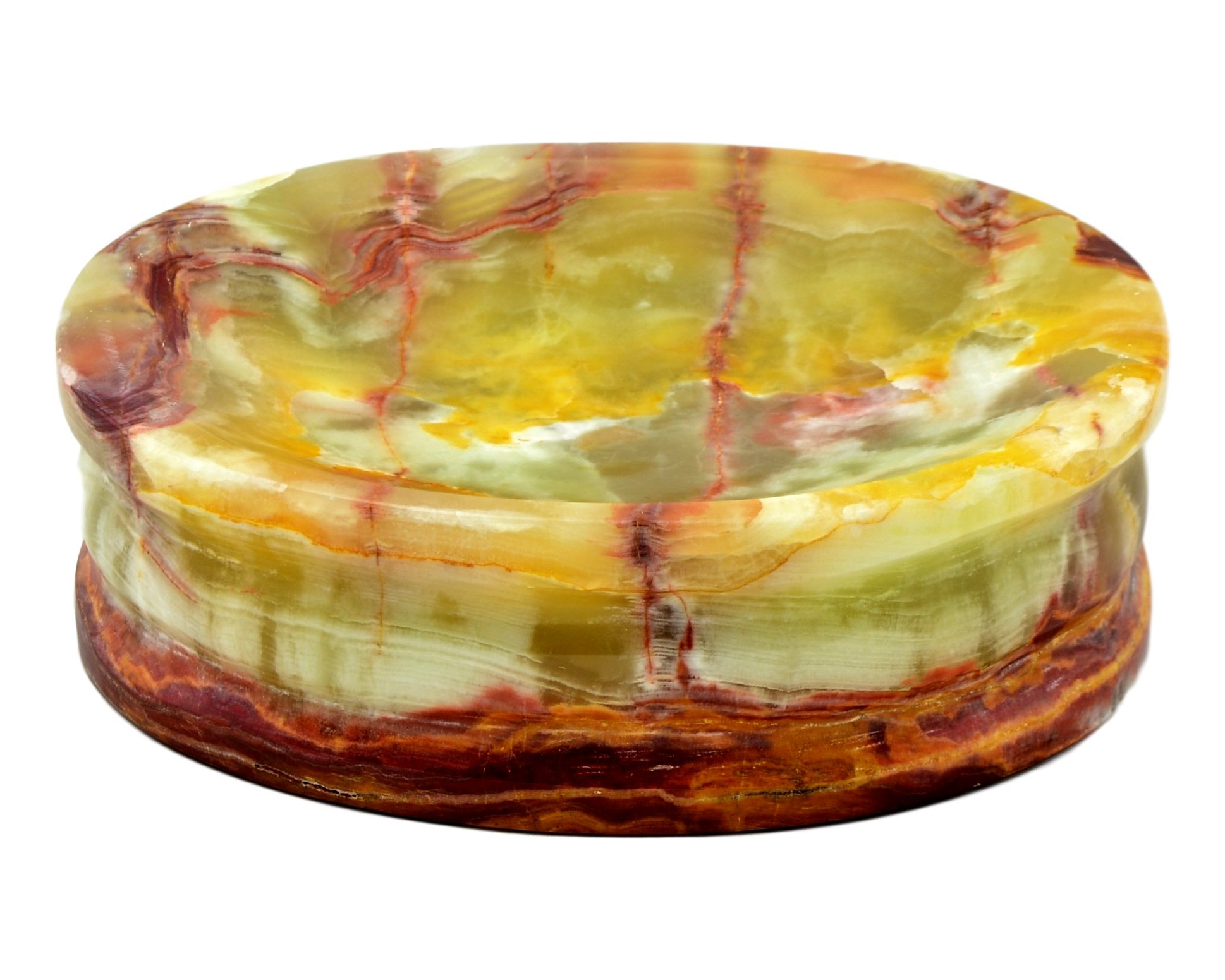 Nature Home Decor 703MG Multi Green Onyx Soap Dish of Bathroom Accessories of Pacific Collection