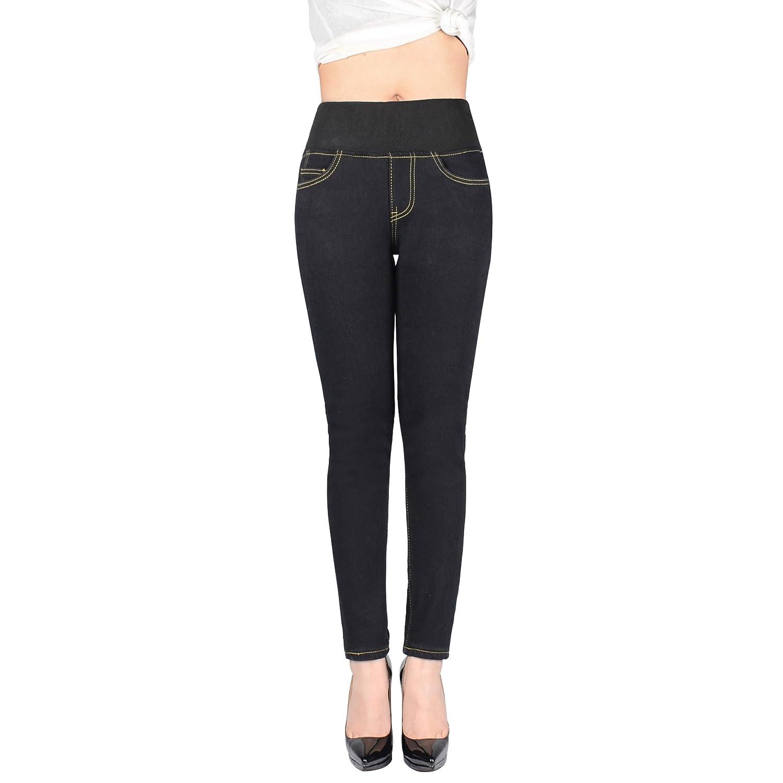 Women's Winter Denim Slim Fit Fleece Lined Jeans