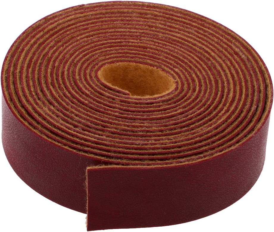 5M BROWN PU Leather Strap Strips for Leather Crafts DIY Bag Belt Material