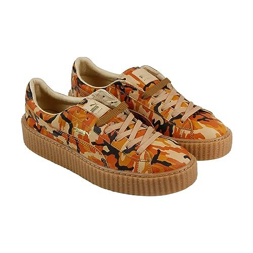 Puma Creepers camuflaje U para hombre naranja Suede Lace Up Zapatos de zapatillas: Amazon.es: Zapatos y complementos
