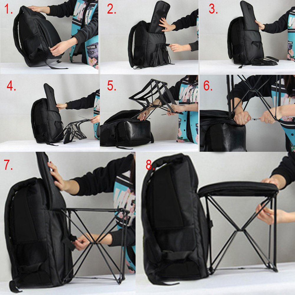 Image result for Annstory Portable Fold Stool Chair