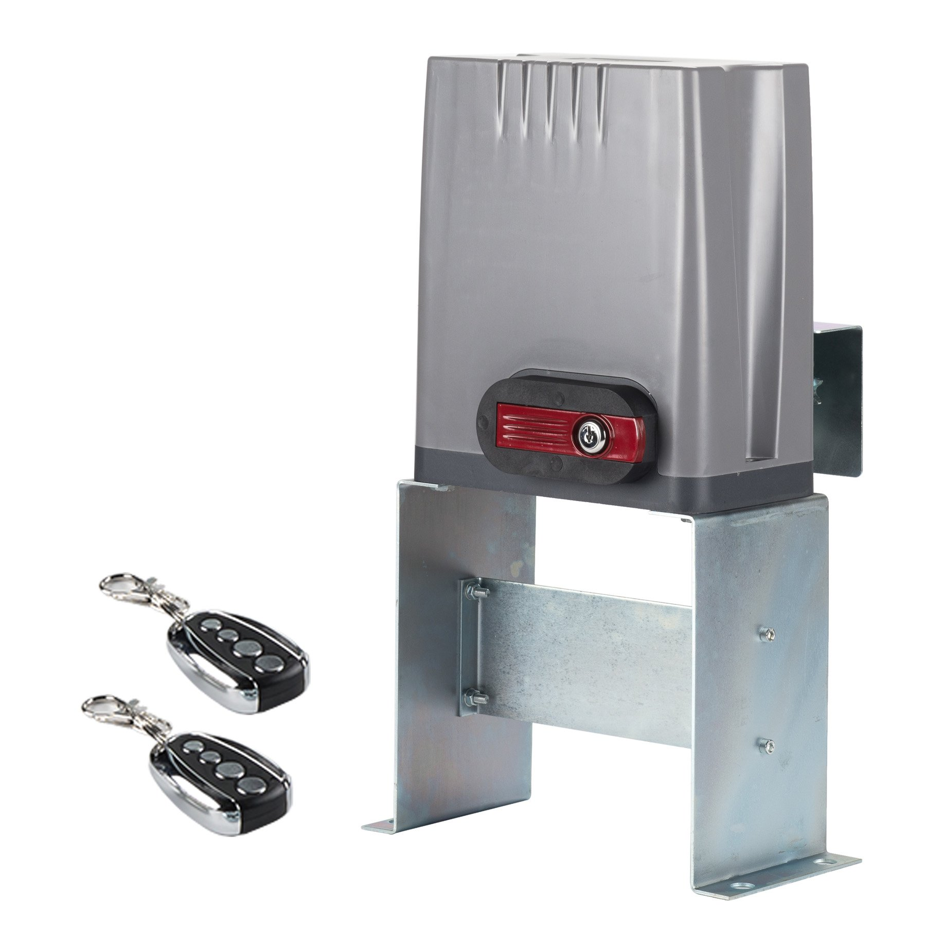 CO-Z Sliding Gate Opener with Wireless Remotes, Dual Roller Gate Motor, Automatic Slide Gate Operater Kit for Fence Driveway, Auto Chain Gate Opener Hardware with Controllers(For 1800Lbs Gate)