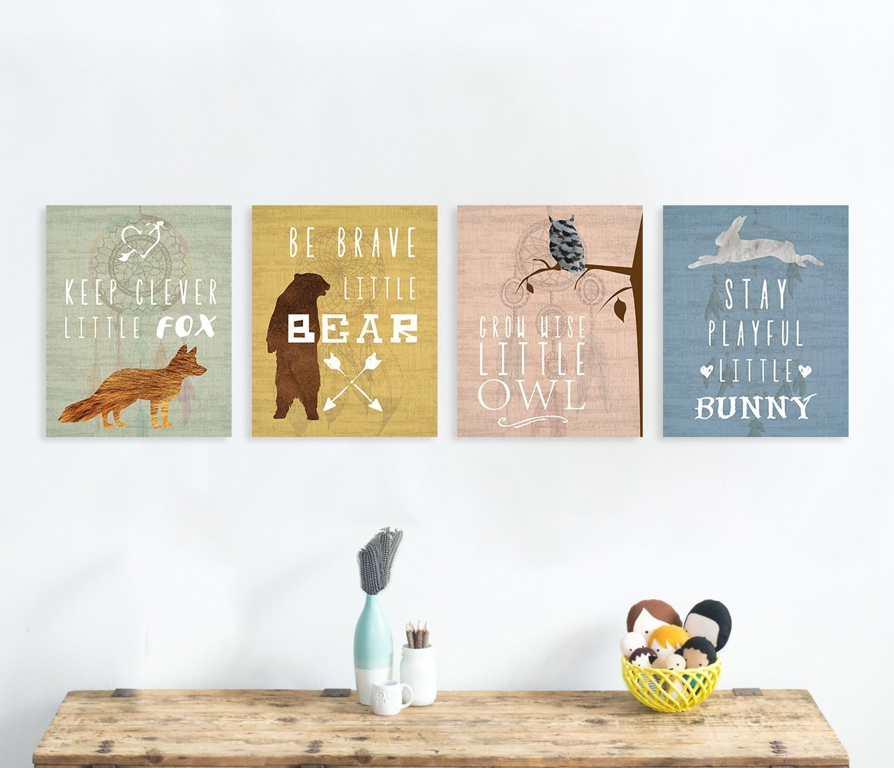 Woodland Nursery, Collection Inspirational Animals 05x07 Inch Print, Nursery Decor, Kids Decor, Animals Decor For Kids, Motivational Art, Inspirational Art Children Inspire Design