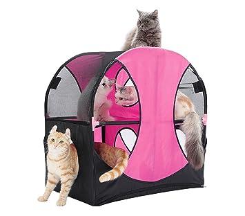 220847 Juego interactivo para gatos WHEEL de dos niveles y varias entradas
