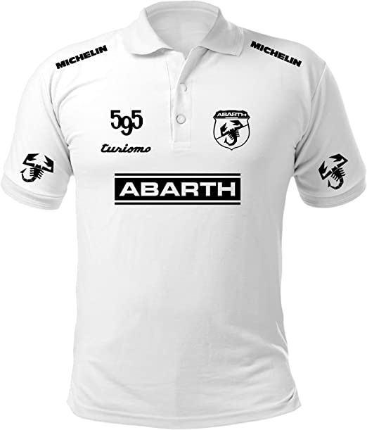 Polo Camiseta Estilo Abarth 500 Fiat Coche Rally Racing T-Shirt ...