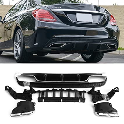 Amazon com: Fandixin W205 Diffuser, ABS Rear Bumper Lip