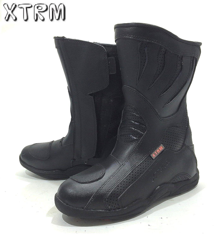 moto bottes courtes XTRM 801 Tournee Bottes moto hommes et femmes heavy duty adulte Urban Course Sports chaussures en cuir
