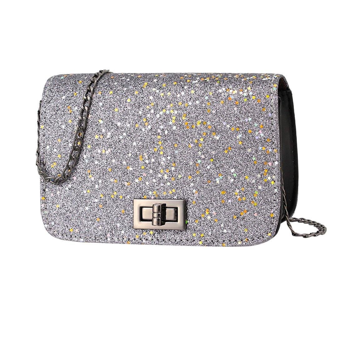 65ff8a03fb84 Gabrine Womens Shoulder Crossbody Evening Bag Handbag Clutch Purse Sequin  for Dailywear Wedding Party