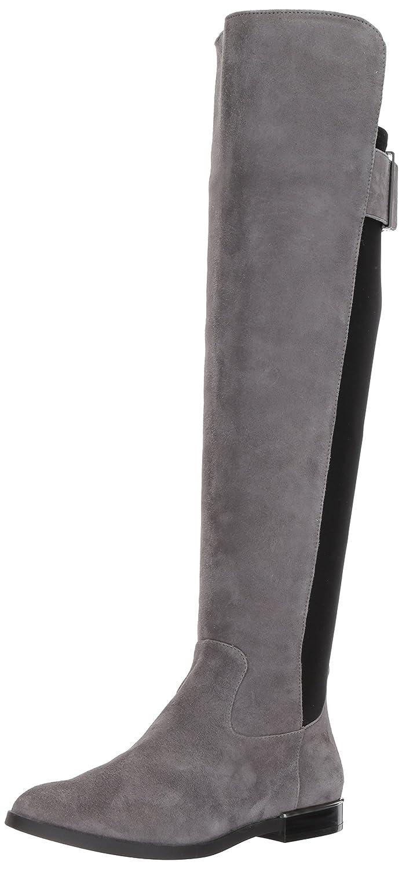Calvin Klein Women's Priya Over The Knee Boot B073XB5DZB 6.5 M US|Slate/Black Suede/Stretch