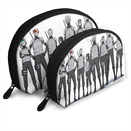 Amazon.com: JINUNNU Makeup Bag Kakashi Hatake Cosmetic Pouch Clutch ...