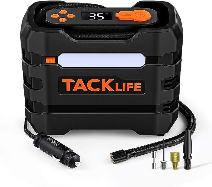 TACKLIFE 12V DC Car Tire Inflator Air Compressor Portable Multifunctional Tire Pump