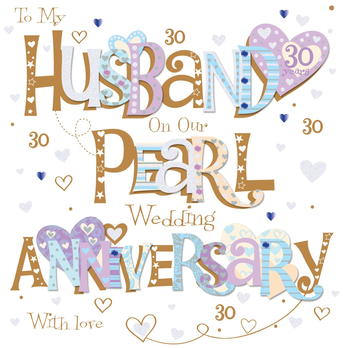 Amazon talking pictures husband pearl 30th wedding anniversary amazon talking pictures husband pearl 30th wedding anniversary greeting card 8 square handmade cards office products m4hsunfo