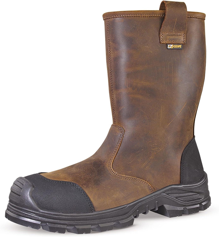 Bottes de s/écurit/é JALCYPRESS SAS FOURREES cuir marron JJE45-43