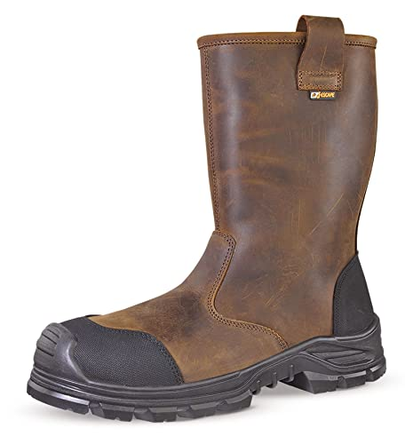 df3ec7b3f6e Jallatte Jalcypress Brown Full Grain Leather Rigger Safety Work Boots