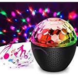 16 Color Disco Ball Party Lights, LED Strobe Light Bluetooth Dance Light Disco with USB Remote Control Dj Lights Stage Light,
