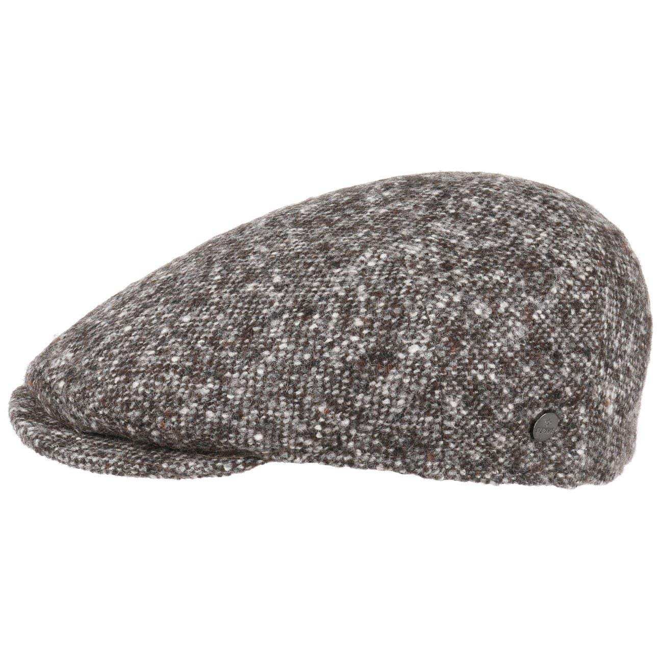 Lierys Virgin Wool Tweed Coppola Cappello Piatto Berretto Invernale