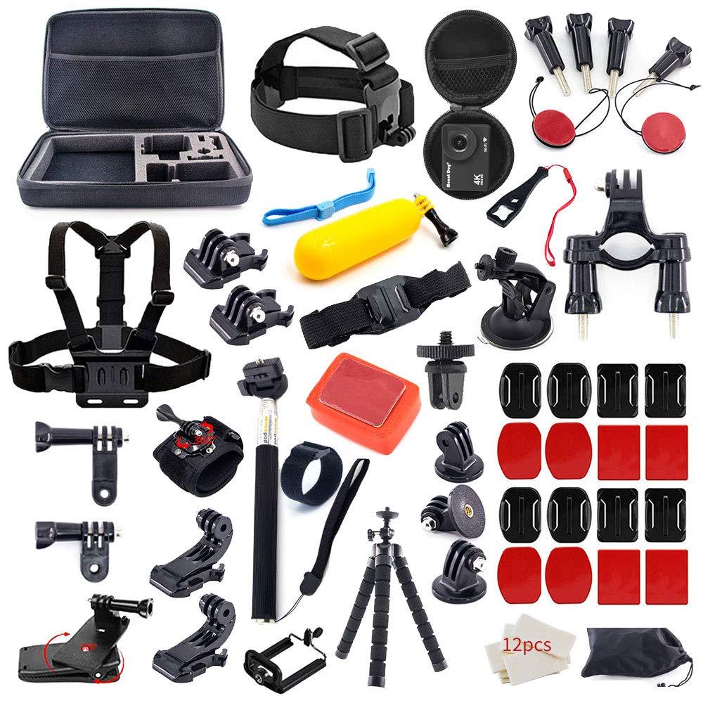 MOUNTDOG Action Camera Accessories Kit for GoPro Hero 7 6 5 4 3+ 3 2 1 Hero Session 5 Black Accessory Bundle Set for AKASO Apeman SJ4000 AKASO Campark Action Camera Accessory