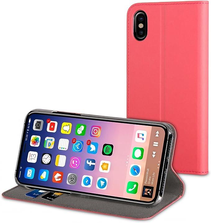 Muvit Folio Stand Rosa: Apple iPhone X/XS: Amazon.es: Electrónica