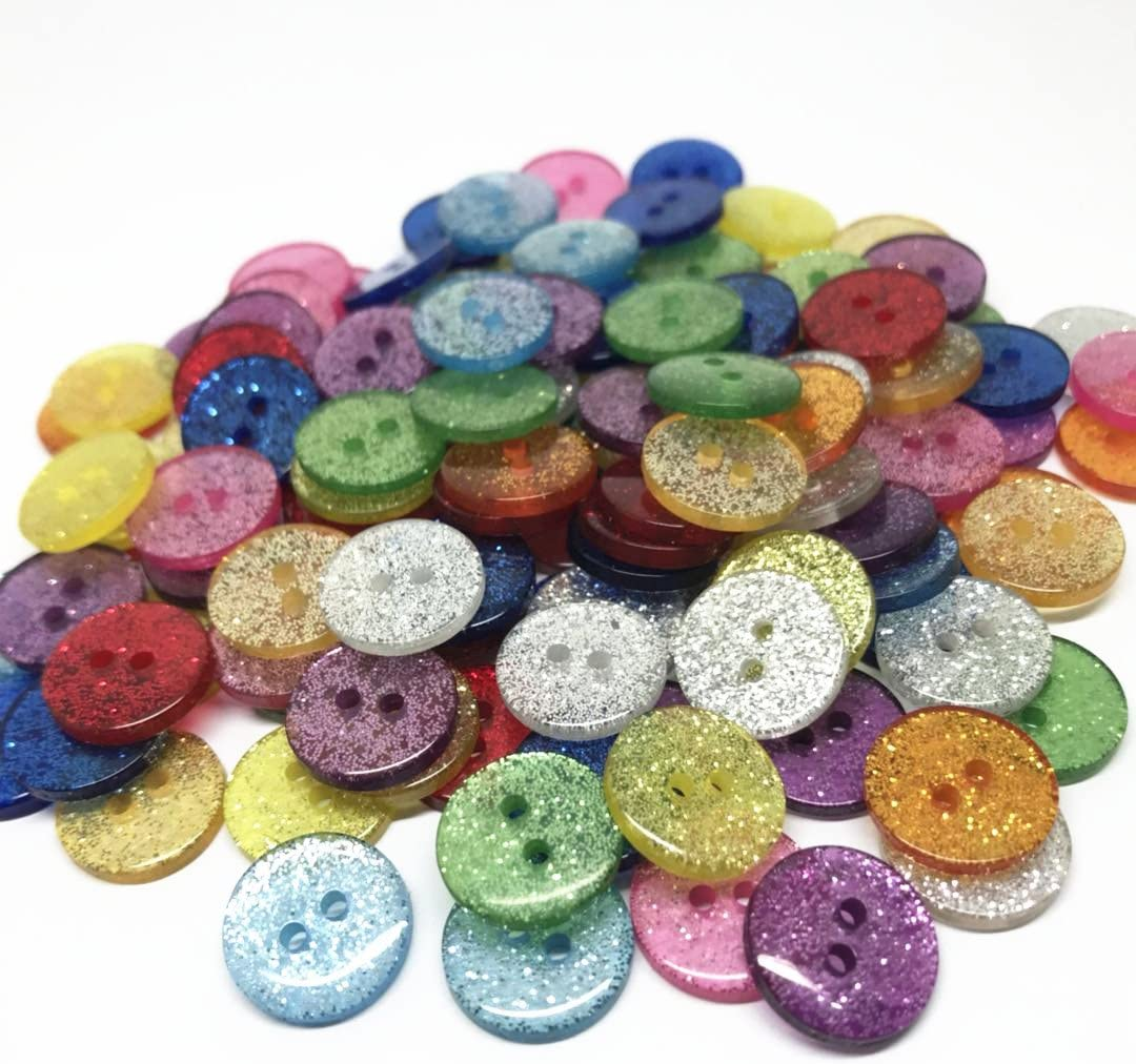 9mm Choose Colour  Acrylic Buttons  x 100 Crafts Cards  Embellishmwnt