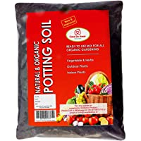 Organic Potting Soil Mix Ready to use Organic Fertilizer nutrients Balanced Water Absorption Prevents Root-Rot Light Weight Terrace Gardening and Indoor Plants, Contains neem Powder