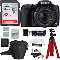 Canon PowerShot SX530 HS + Sandisk 32GB Memory Card + Tripod + Ritz Gear Bag + Card Reader + Cleaning Kit + Screen Protector + Spare Battery