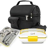SPICE - AMARILLO INOX scaldavivande elettrico vaschetta estraibile acciaio inox - coperchio con guarnizione - portatile box portavivande termico