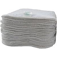 Toallitas de algodón de primera calidad, color blanco