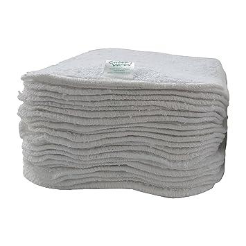 """Toallitas de algodón de primera calidad, color blanco""""Zero Twist"""" ..."""