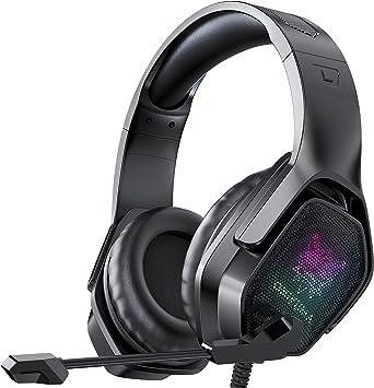 Anti Bruit pour PS4// Xbox One//PC//Ordinateur//Tablette Blade Hawks Casque PS4 Gaming,Casque de Jeu avec Virtuel 7.1 Son Surround 3.5mm Jack