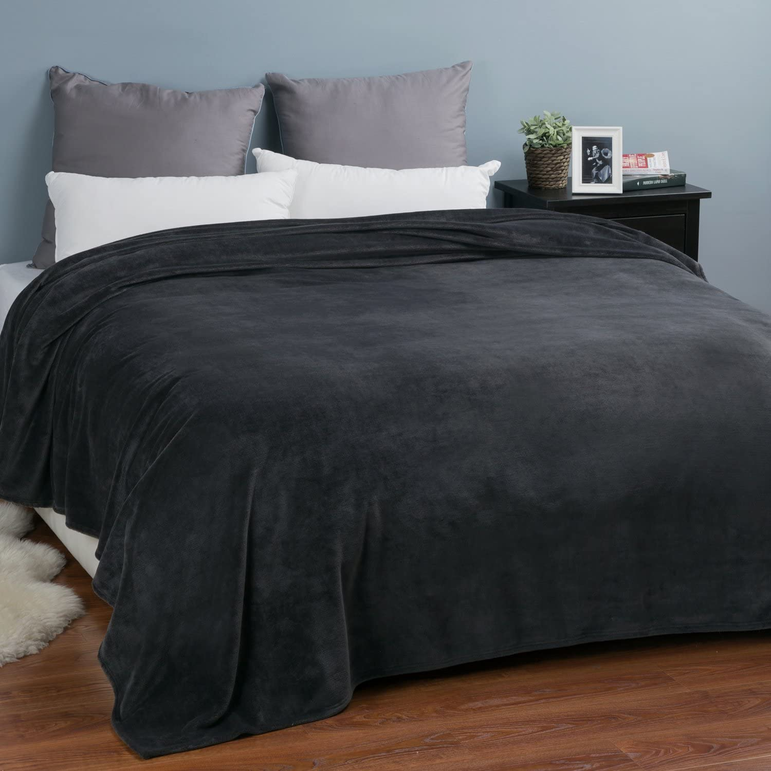 FLUFFY LUSCIOUS TEDDY BEAR FUR SHERPA BLACK 100/%POLYESTER SUPER KING DUVET COVER