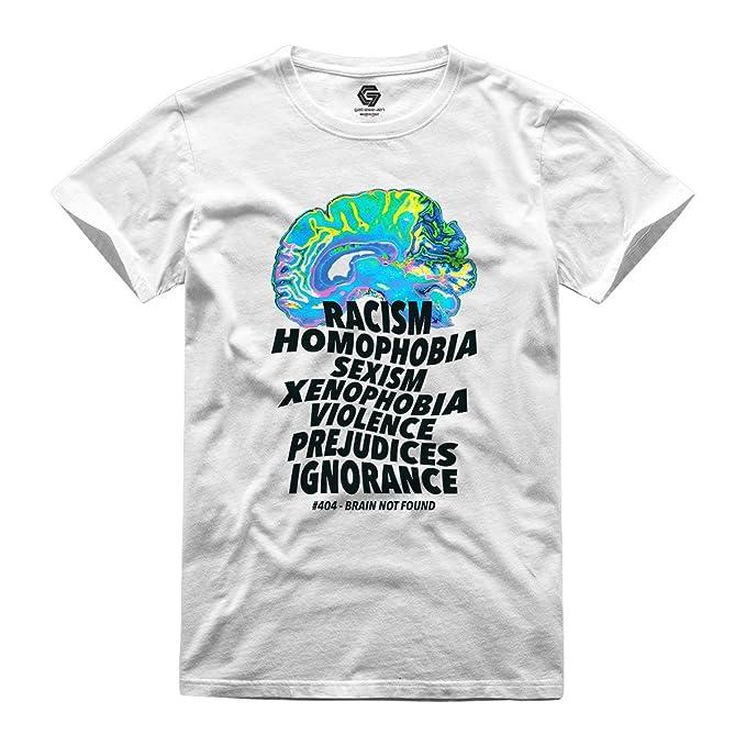 GATESEVEN Camiseta de Hombre Turn on Your Brain Streetwear Urban Style: Amazon.es: Ropa y accesorios
